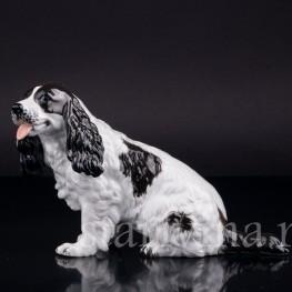Фигурка собаки из фарфора Спаниель, Rosenthal, Германия, 1953-56 гг.