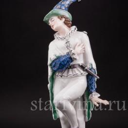 Фарфоровая статуэтка Арлекин, Karl Ens, Германия, нач. 20 в.
